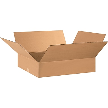 29in.(L) x 17in.(W) x 5in.(H) - Staples Corrugated Shipping Boxes, 15/Bundle