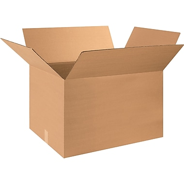 28in.(L) x 18in.(W) x 18in.(H) - Staples® Corrugated Shipping Boxes, 10/Bundle