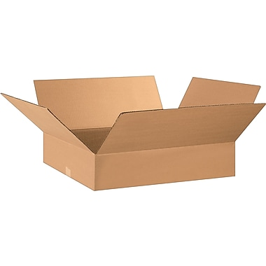 28in.(L) x 17in.(W) x 5in.(H) - Staples® Corrugated Shipping Boxes, 15/Bundle