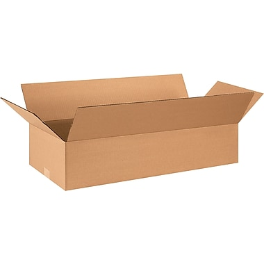 28in.(L) x 12in.(W) x 6in.(H) - Staples® Corrugated Shipping Boxes, 25/Bundle