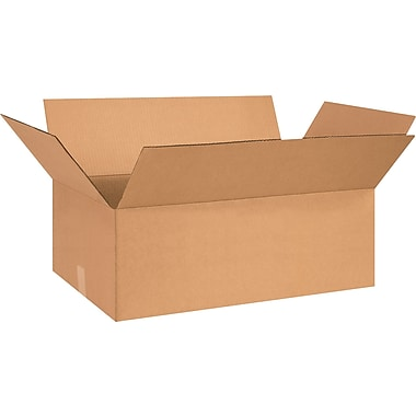 27in.(L) x 14in.(W) x 9in.(H) - Staples Corrugated Shipping Boxes, 20/Bundle