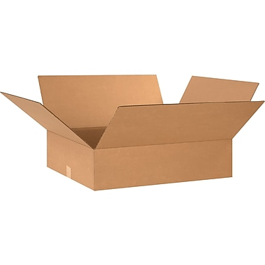 26in.(L) x 20in.(W) x 6in.(H) - Staples® Corrugated Shipping Boxes, 20/Bundle
