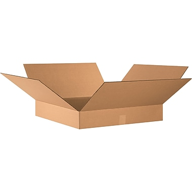 26in.(L) x 20in.(W) x 4in.(H) - Staples® Corrugated Shipping Boxes, 20/Bundle