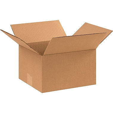 10in.(L) x 9in.(W) x 6in.(H) - Staples® Corrugated Shipping Boxes, 25/Bundle