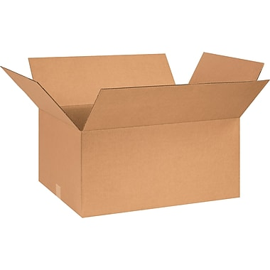 26in.(L) x 18in.(W) x 12in.(H) - Staples® Corrugated Shipping Boxes, 15/Bundle
