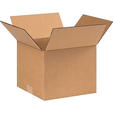 9in.(L) x 9in.(W) x 8in.(H) - Staples® Corrugated Shipping Boxes, 25/Bundle