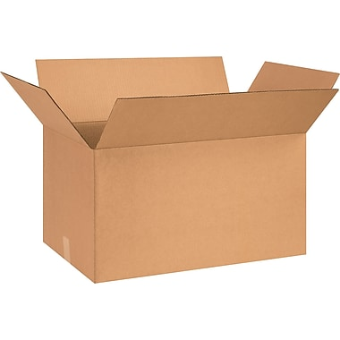 26in.(L) x 16in.(W) x 14in.(H) - Staples® Corrugated Shipping Boxes, 15/Bundle