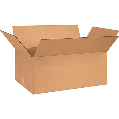 26in.(L) x 16in.(W) x 10in.(H)- Staples® Corrugated Shipping Boxes, 20/Bundle