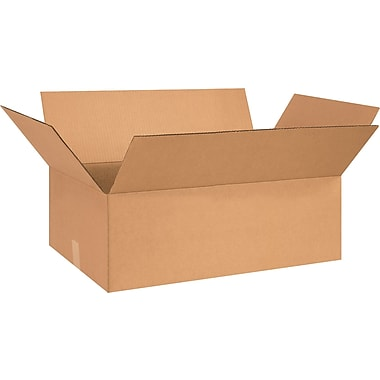 26in.(L) x 15in.(W) x 7in.(H) - Staples® Corrugated Shipping Boxes, 20/Bundle