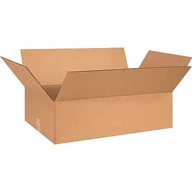 26in.(L) x 15in.(W) x 5in.(H) - Staples® Corrugated Shipping Boxes, 20/Bundle