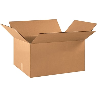 22in.(L) x 16in.(W) x 10in.(H) - Staples® Corrugated Shipping Boxes, 20/Bundle
