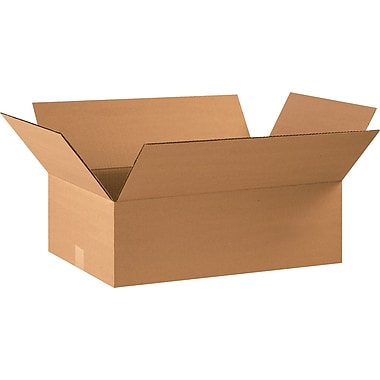 22in.(L) x 14in.(W) x 8in.(H) - Staples® Corrugated Shipping Boxes, 20/Bundle