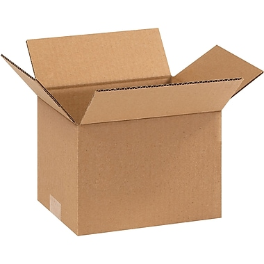 9in.(L) x 7in.(W) x 6in.(H) - Staples® Corrugated Shipping Boxes, 25/Bundle
