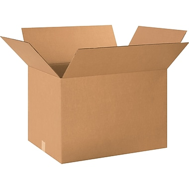 24in.(L) x 18in.(W) x 16in.(H) - Staples® Corrugated Shipping Boxes, 15/Bundle
