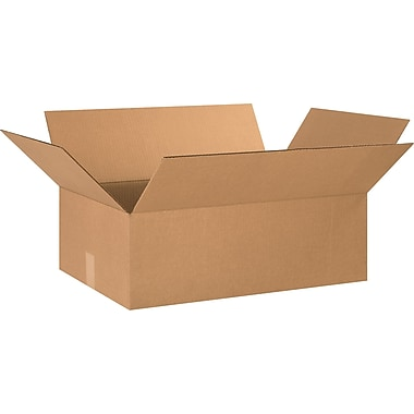 24in.(L) x 16in.(W) x 8in.(H) - Staples® Corrugated Shipping Boxes, 20/Bundle