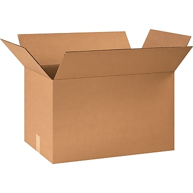 24in.(L) x 14in.(W) x 14in.(H) - Staples® Corrugated Shipping Boxes, 15/Bundle