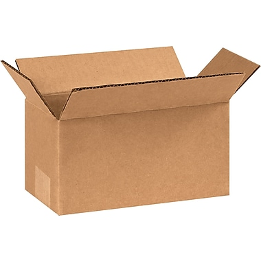 09in.(L) x 4in.(W) x 4in.(H) - Staples® Corrugated Shipping Boxes, 25/Bundle