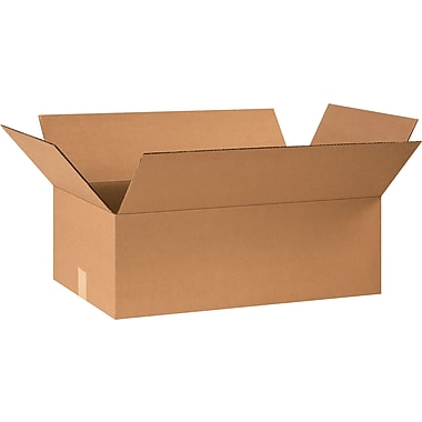 24in.(L) x 14in.(W) x 8in.(H) - Staples® Corrugated Shipping Boxes, 20/Bundle