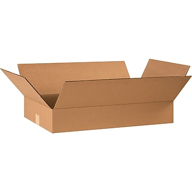 24in.(L) x 14in.(W) x 4in.(H) - Staples® Corrugated Shipping Boxes, 25/Bundle