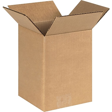 6in.(L) x 6in.(W) x 8in.(H) - Staples® Corrugated Shipping Boxes