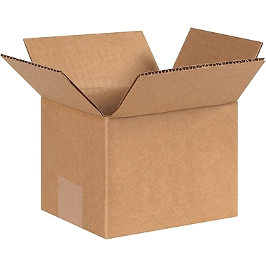 6in.(L) x 5in.(W) x 4in.(H) - Staples® Corrugated Shipping Boxes, 25/Bundle