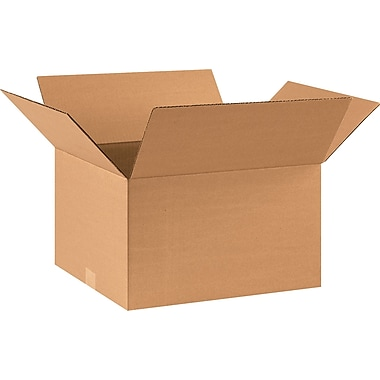 17in.(L) x 14in.(W) x 10in.(H) - Staples® Corrugated Shipping Boxes, 25/Bundle