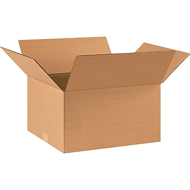 17in.(L) x 14in.(W) x 9in.(H) - Staples® Corrugated Shipping Boxes, 25/Bundle