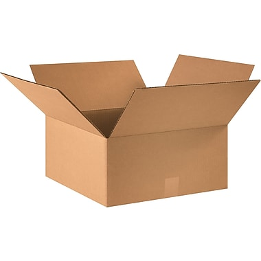 16in.(L) x 16in.(W) x 7in.(H) - Staples® Corrugated Shipping Boxes, 25/Bundle