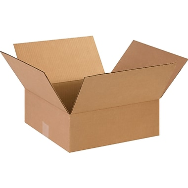 15in.(L) x 15in.(W) x 5in.(H) - Staples® Corrugated Shipping Boxes, 25/Bundle