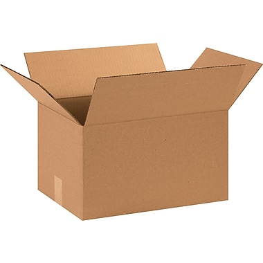 15in.(L) x 11in.(W) x 8in.(H) - Staples® Corrugated Shipping Boxes, 25/Bundle