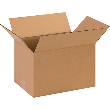 13in.(L) x 9in.(W) x 7in.(H) - Staples® Corrugated Shipping Boxes, 25/Bundle