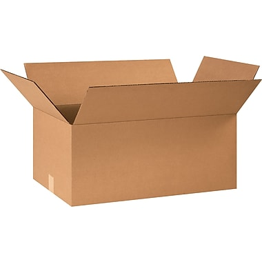 24in.(L) x 10in.(W) x 10in.(H) - Staples® Corrugated Shipping Boxes, 25/Bundle