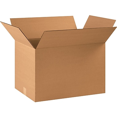 22in.(L) x 14in.(W) x 14in.(H) - Staples® Corrugated Shipping Boxes, 20/Bundle