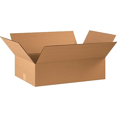 22in.(L) x 14in.(W) x 6in.(H) - Staples® Corrugated Shipping Boxes, 20/Bundle