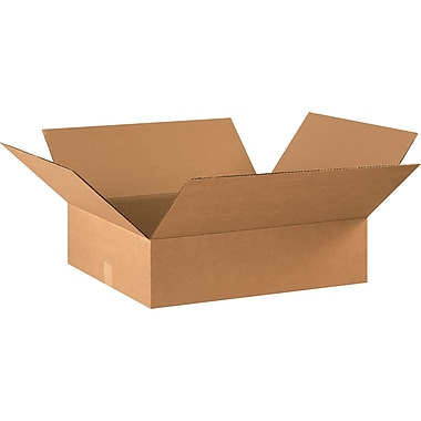22in.(L) x 18in.(W) x 6in.(H) - Staples® Corrugated Shipping Boxes, 20/Bundle