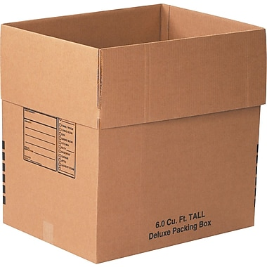 24in.(L) x 18in.(W) x 24in.(H) - Staples® Deluxe Moving Boxes, 10/Bundle