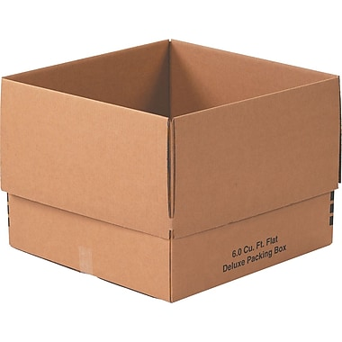 24in.(L) x 24in.(W) x 18in.(H) - Staples® Deluxe Moving Boxes, 10/Bundle