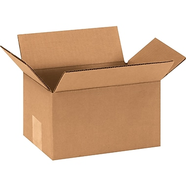 9in.(L) x 6in.(W) x 5in.(H) - Staples® Corrugated Shipping Boxes, 25/Bundle
