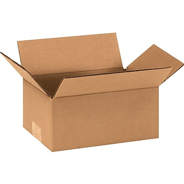9in.(L) x 6in.(W) x 4in.(H) - Staples® Corrugated Shipping Boxes, 25/Bundle
