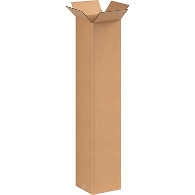 8in.(L) x 8in.(W) x 40in.(H) - Staples® Corrugated Shipping Boxes, 20/Bundle