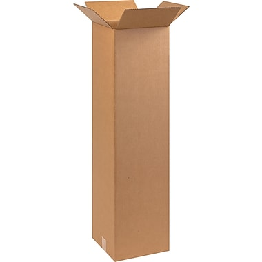 10in.(L) x 10in.(W) x 40in.(H) - Staples® Corrugated Shipping Boxes, 25/Bundle