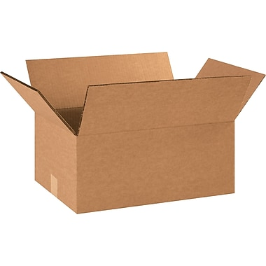 18in.(L) x 12in.(W) x 8in.(H) - Staples® Heavy-Duty Double-wall Boxes, 15/Bundle
