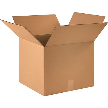 16in.(L) x 16in.(W) x 13in.(H) - Staples® Corrugated Shipping Boxes, 25/Bundle