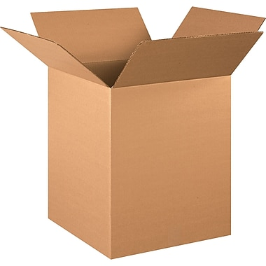 16in.(L) x 16in.(W) x 20in.(H) - Staples® Corrugated Shipping Boxes, 20/Bundle