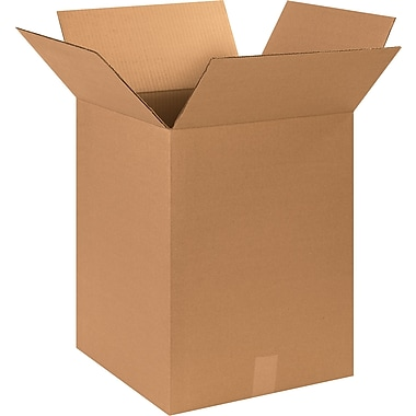 15in.(L) x 15in.(W) x 20in.(H) - Staples® Corrugated Shipping Boxes, 25/Bundle