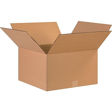 17in.(L) x 17in.(W) x 10in.(H) - Staples® Corrugated Shipping Boxes