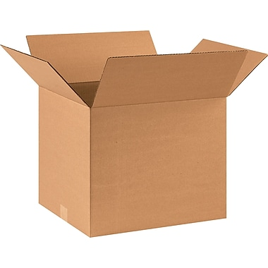 17in.(L) x 14in.(W) x 14in.(H) - Staples® Corrugated Shipping Boxes, 25/Bundle