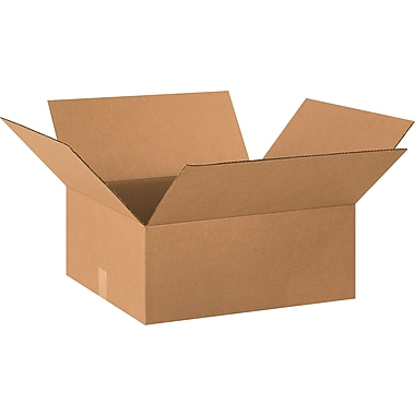 20in.(L) x 18in.(W) x 8in.(H) - Staples® Corrugated Shipping Boxes, 25/Bundle