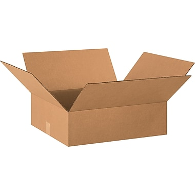 20in.(L) x 18in.(W) x 6in.(H) - Staples® Corrugated Shipping Boxes, 25/Bundle