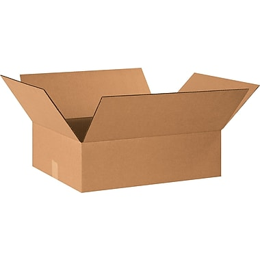 20in.(L) x 16in.(W) x 6in.(H) - Staples® Corrugated Shipping Boxes, 25/Bundle